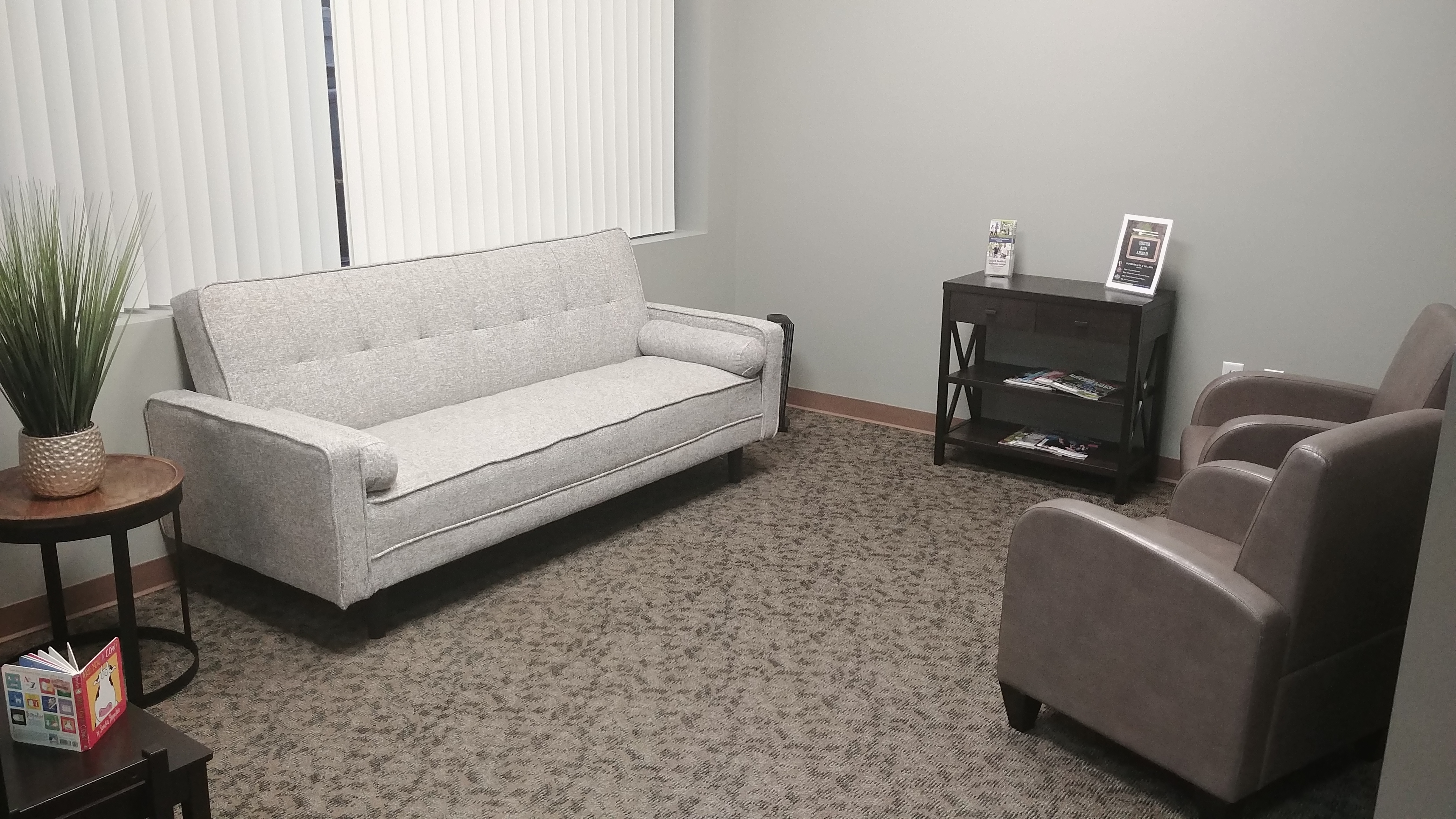 The waiting room at Oxford Ohio chiropractic clinic Oxford Health & Wellness Center a 45056 chiropractic